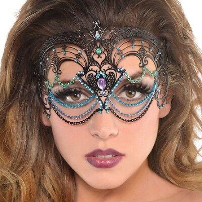 Damen Metall Meerjungfrau Masquerade Mardi Gras Karneval Party Kostüm Augenmaske ()