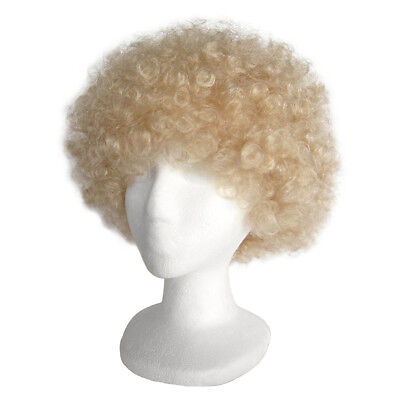 Economy Blonde Afro Wig ~ HALLOWEEN 60s 70s DISCO CLOWN COSTUME PARTY CURLY FRO