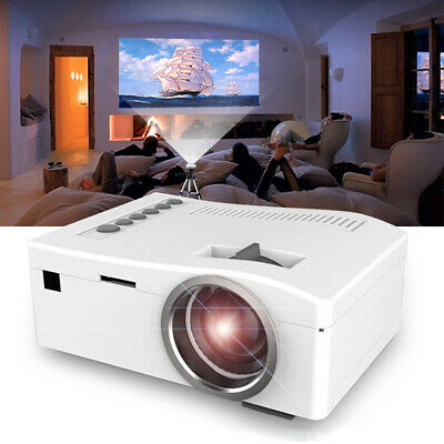 Portable Mini Projector HD 1080P Home Theater LED Video Movie USB/TF/AV/HDMI/IR