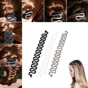 Women Fashion Hair Styling Clip Stick Bun Maker Braid Tool