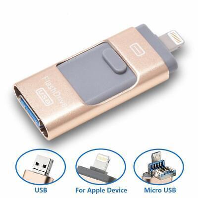 1 Usb Flash Drive (3 in 1 USB Flash Drive 64Gb Memory Photo Stick External Thumb Storage Drive PC )