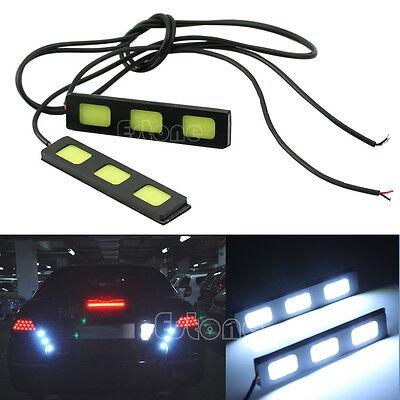 2pcs White 12V 3-LED COB Car Auto DRL Driving Daytime Running Lamp Fog Light