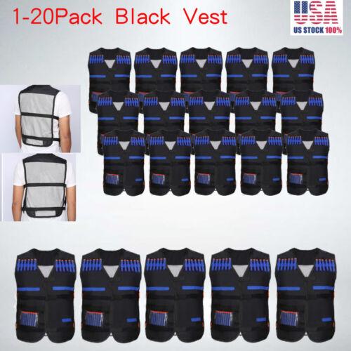 Lot Nerf Tactical Vest Kit Kids Darts Mask Wrist Band for Ne