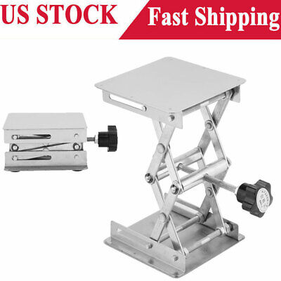 4 Stainless Steel Lifting Platform Lab Lifter Stand Rack Scissor Lab Jack Stand