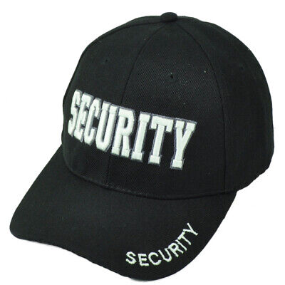 Security Guard Law Officer Bodyguard Constructed Black White Hat Cap  Guard White Hat