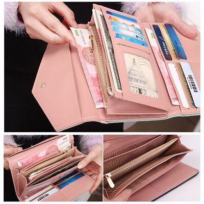 Black Fashion Wallet Clutch - Womens Leather Envelope Clutch Wallet Fashion Long Phone Holder Purse Handbag US