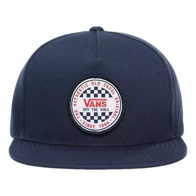 Vans NEW Mens OG Checker Snapback Cap - Dress Blues BNWT