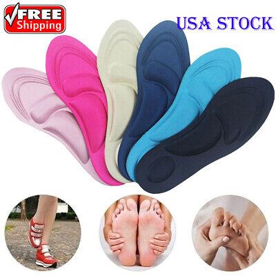 Women Lady Shoe Inserts Insoles Memory Foam Relieve Flat Foot Feet Pain USA