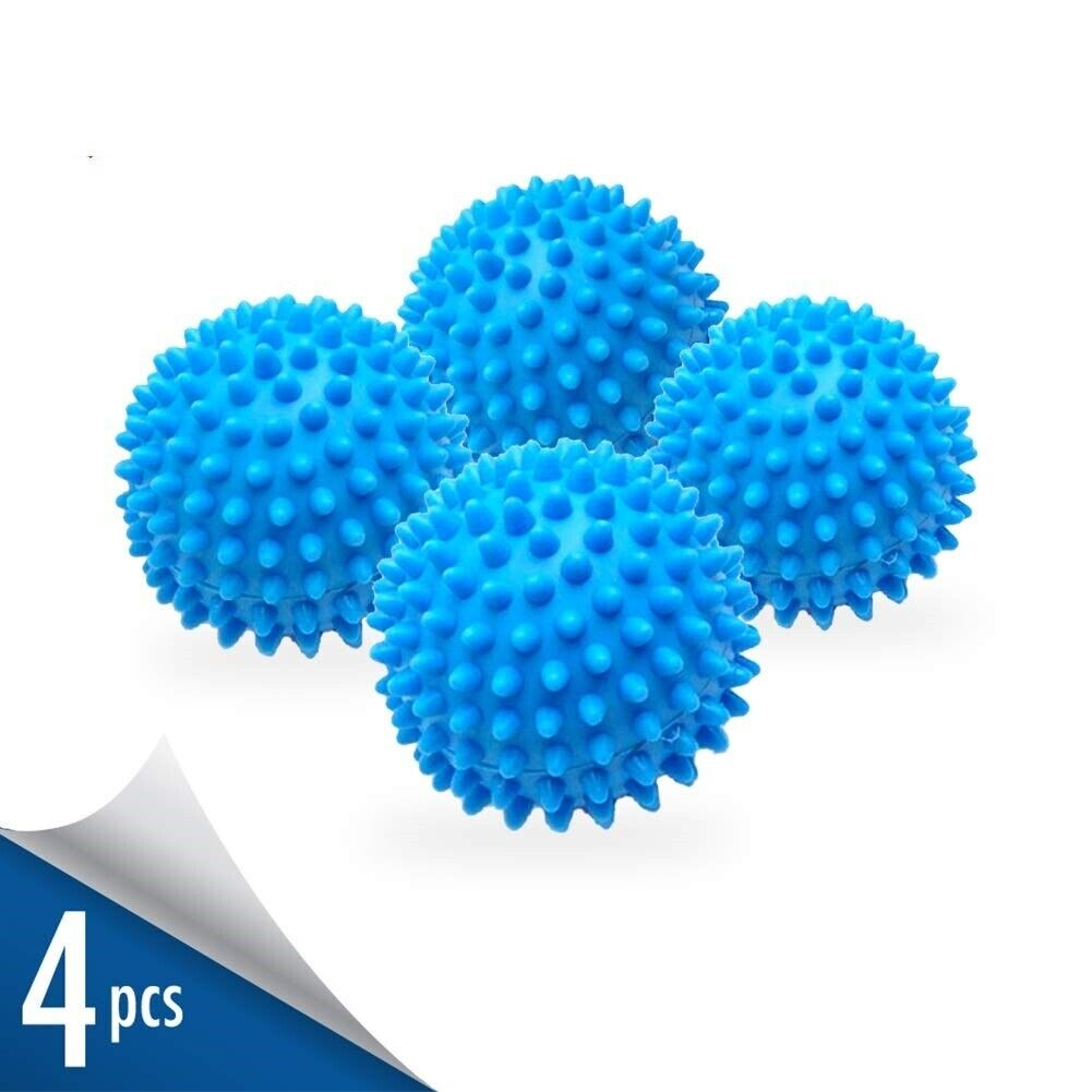 Dryer Balls 4 Pack Blue Reusable Dryer Balls Replace Laundry Drying Fabric Us Detergents, Softeners & Stain Removers
