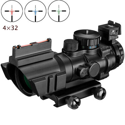 4x32 Acog Rifle scope 20mm Dovetail Reflex Optics Sight For Hunting