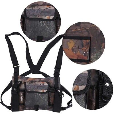 Radio Vest Tactical Chest Harness Universal Front Pouch Ham 600D Oxford