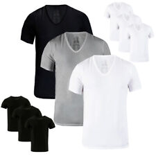 Calvin Klein Men's 3 Pack Classic Fit 100% Cotton V-Neck or Crew Neck Undershirt