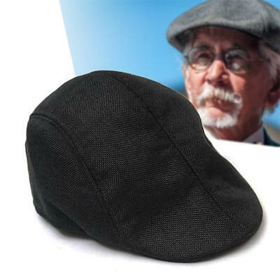 été Cabbie Newsboy Cap Homme Plaid Hat Ivy Golf Driving Sun Flat Vintage Noir KS