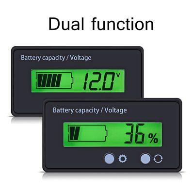 12V-48V LCD Battery Capacity Voltage Tester Indicator Lead-acid Voltmeter Meter