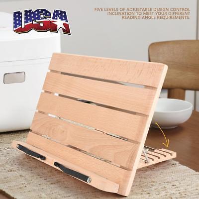 Wood Foldable Desktop Sheet Music Stand Holder Adjustable Table Cook Book Stand
