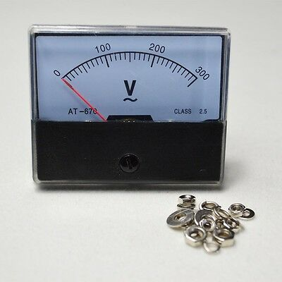 New Ac 0-300v-analog Volt Voltage Voltmeter Panel Meter Top Quality