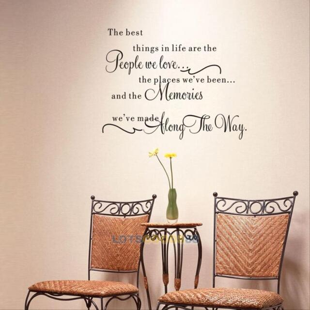 Family DIY Removable Vinyl Quote Wall Stickers Decal Mural Art Home Kids Decor#L