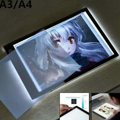 A4 LED Drawing Board Light Box Slim Tracing Pad Copy Tattoo Art Craft Stencil UK