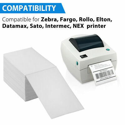 500 4x6 Fanfold Direct Thermal Shipping Labels For Zebra And Rollo Buy 2 Get 10