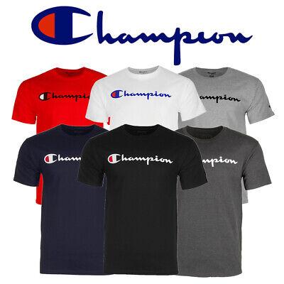 Champion Men's Classic Jersey Script Logo Short Sleeve T-Shi