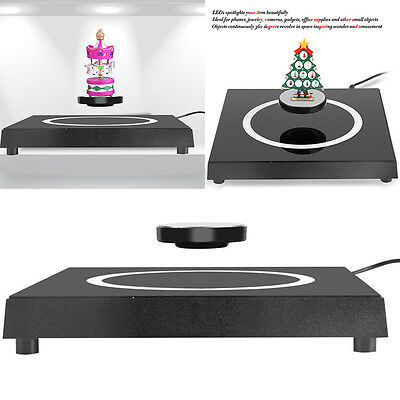 LED Rotating Magnetic Levitating Floating Show Shelf Display Platform EU Plug JS