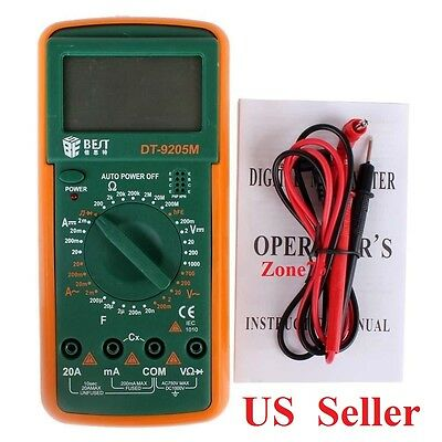 Best Digital Multimeter Voltmeter Ac Dc Tester Ammeter Ohmmeter Volt Dt9205m Us