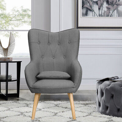 Occasional Wing Back Empress Tub Chair Vintage Armchair Fabric Bedroom Chaise