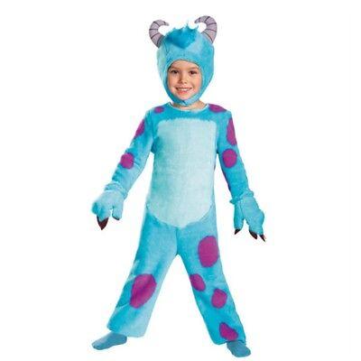 Monsters University Toddler Boys Plush Blue Faux Fur Sulley Costume
