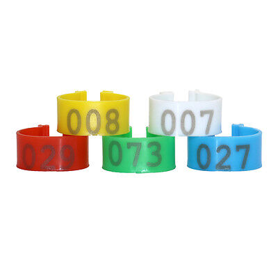 16/20mm Chicken Leg Bands Plastic Number 1-100 Poultry Duck Goose Leg Rings Clip (Plastic Chicken Rings)