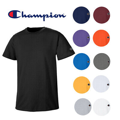 Champion Men's Athletic Wear T425 Short Sleeve Tag Free Workout Gym T Shirt Clothing, Shoes & Accessories