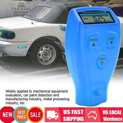 Lcd Digital Car Paint Coating Thickness Probe Tester Gauge Meter Measuring Tool