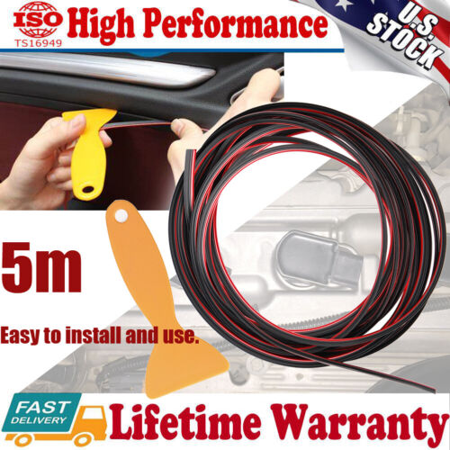 5M Line Car Interior Door Gap Edge Insert Molding Trim Strip Accessories Molding