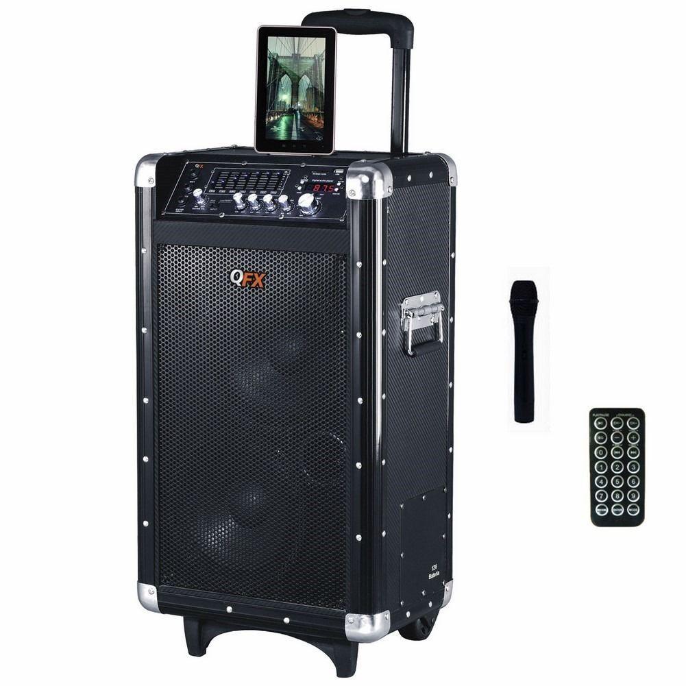 New QFX Bluetooth Professional PA Speaker System FM USB/SD A