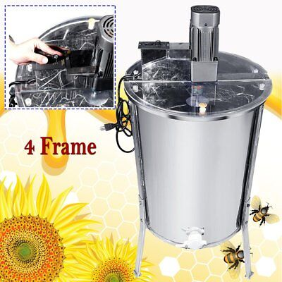 Hd Electric 4 Frame Stainless Steel Honey Extractor Beekeeping Equipment Drum