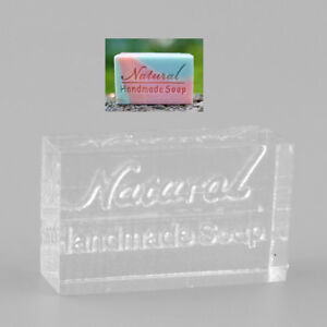 Nice Acrylic Rectangle Natural Word Design Handmade Soap Stamp Seal Mold Mould