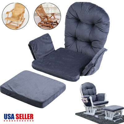 Glider Rocker Replacement Cushions Velvet Washable For Chair & Ottoman Brand -