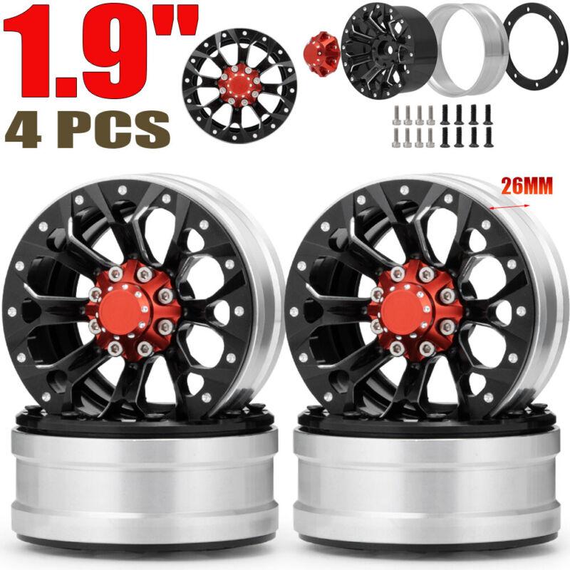 """4PCS 1.9"""" Beadlock Wheel Rim for 1/10 RC Axial SCX10 CC01 TRX-4 90046 D90 RC4WD"""