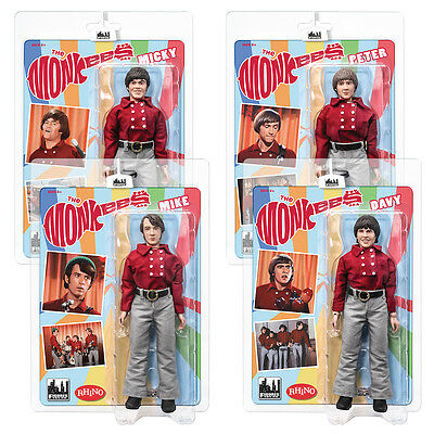 The Monkees 8 Inch Mego Style Action Figures: Red Band Outfit Set of all 4