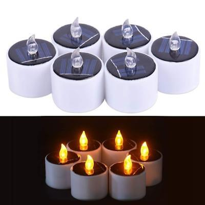 Solar Flickering LED Candles Flameless Electronic Tea Lights Lamp for Party Vase