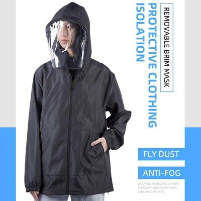Reusable Hazmat Suit Anti Protection Clothing Safety Coverall Isolation Cover So