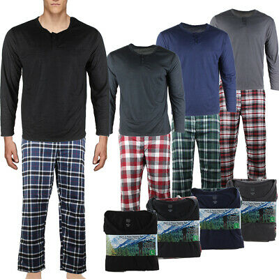 Rugged Frontier Men's Plaid Flannel 2 Piece Lounge Pajama Set Clothing, Shoes & Accessories