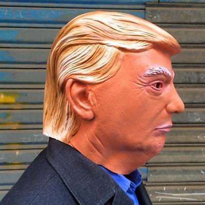 Donald Trump Halloween Latex Mask Most Realistic Cosplay Full-head Adult Mask RF - Most Realistic Masks Halloween