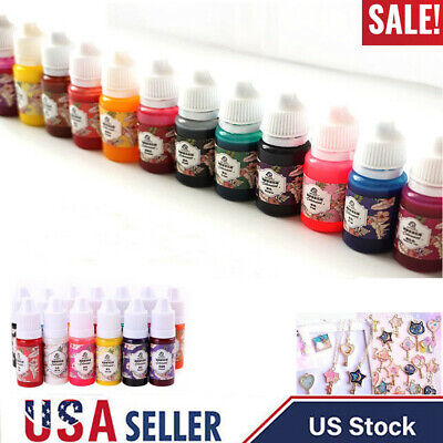 Mix Resin (13 Bottles 10g Epoxy UV Resin Coloring Dye Colorant Pigment Mix Color DIY Set)