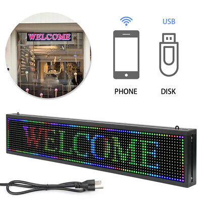 40 X 8 Inch Full Color P10 Led Sign Programmable Scrolling Message Display