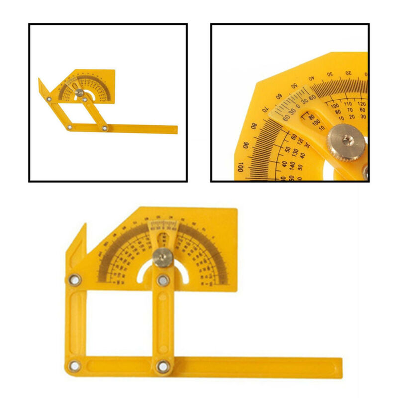 "6"" Angle Finder Protractor Goniometer Miter Gauge Plastic"