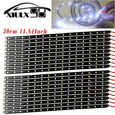 Car Parts - 20X White 30CM/15 LED Flexible Truck Car Motor Trunk Light Strip Waterproof 12V