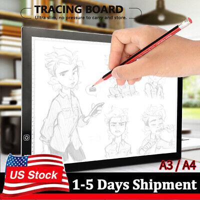 LED Tracing Light Box Board Tattoo A3A4 Drawing Copy Pad Table Stencil Display