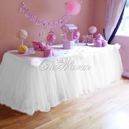 80cm100cm TUTU Tulle Table Skirt Wedding Party Birthday Baby Shower Decor