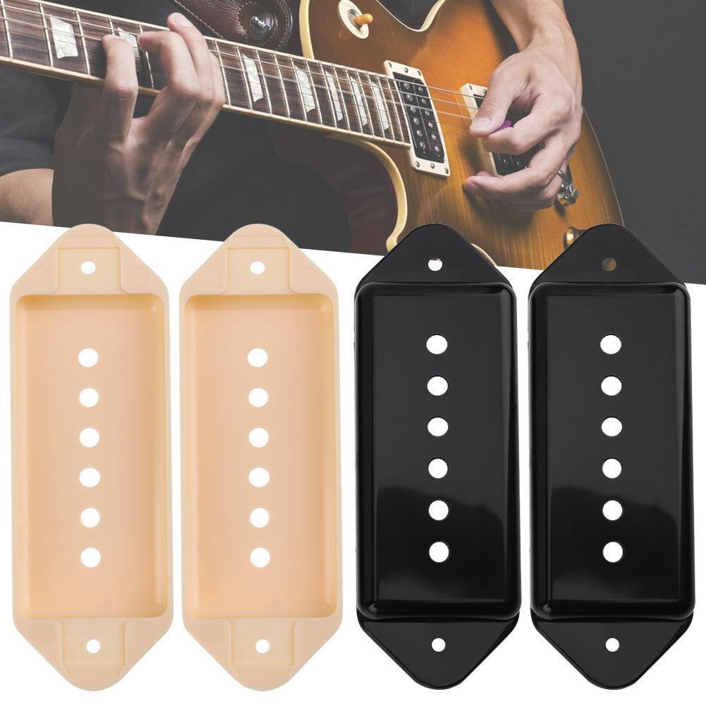 2pc 50/52mm P90-XK Style 6-String Plastic Pickup Covers for Electric Guitar Part