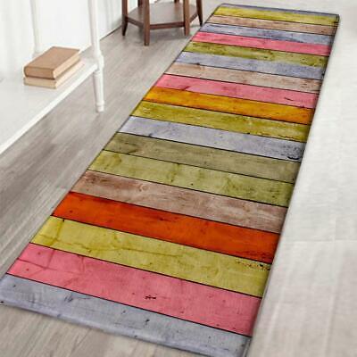 Decorative Wooden Pattern Carpet Floor Non Slip Mat For Livi